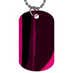 Pink and black lines Dog Tag (Two Sides)
