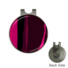 Pink and black lines Hat Clips with Golf Markers