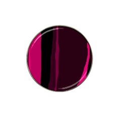 Pink and black lines Hat Clip Ball Marker (10 pack)