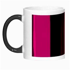 Pink and black lines Morph Mugs