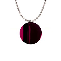 Pink and black lines Button Necklaces