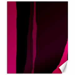 Pink and black lines Canvas 8  x 10