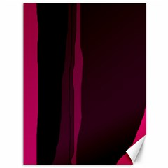 Pink and black lines Canvas 36  x 48