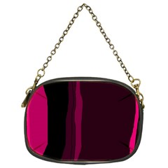 Pink and black lines Chain Purses (One Side)
