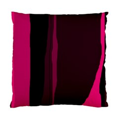 Pink and black lines Standard Cushion Case (Two Sides)