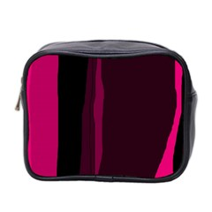Pink and black lines Mini Toiletries Bag 2-Side