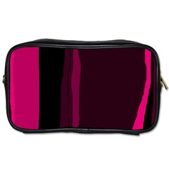 Pink and black lines Toiletries Bags