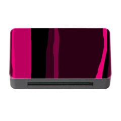Pink and black lines Memory Card Reader with CF