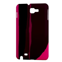 Pink and black lines Samsung Galaxy Note 1 Hardshell Case