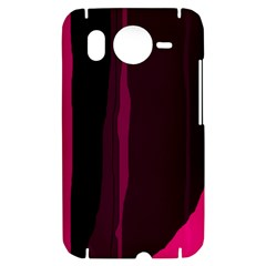Pink and black lines HTC Desire HD Hardshell Case