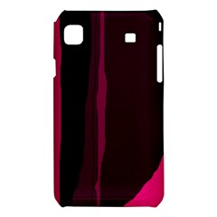 Pink and black lines Samsung Galaxy S i9008 Hardshell Case