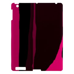 Pink and black lines Apple iPad 3/4 Hardshell Case
