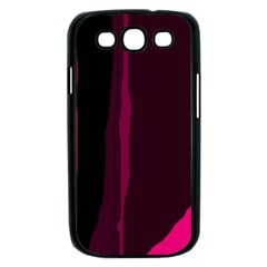 Pink and black lines Samsung Galaxy S III Case (Black)