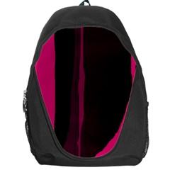 Pink and black lines Backpack Bag