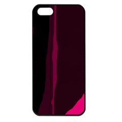 Pink and black lines Apple iPhone 5 Seamless Case (Black)