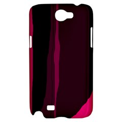 Pink and black lines Samsung Galaxy Note 2 Hardshell Case