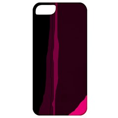 Pink and black lines Apple iPhone 5 Classic Hardshell Case