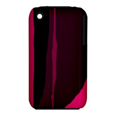Pink and black lines Apple iPhone 3G/3GS Hardshell Case (PC+Silicone)