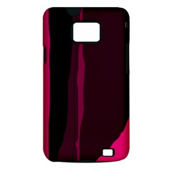 Pink and black lines Samsung Galaxy S II i9100 Hardshell Case (PC+Silicone)