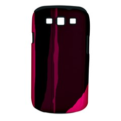 Pink and black lines Samsung Galaxy S III Classic Hardshell Case (PC+Silicone)