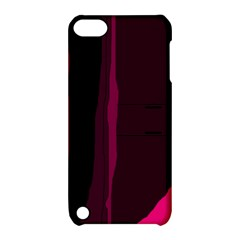 Pink and black lines Apple iPod Touch 5 Hardshell Case with Stand