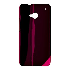 Pink and black lines HTC One M7 Hardshell Case