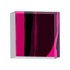 Pink and black lines 4 x 4  Acrylic Photo Blocks