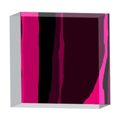 Pink and black lines 5  x 5  Acrylic Photo Blocks