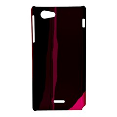 Pink and black lines Sony Xperia J