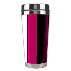 Pink and black lines Stainless Steel Travel Tumblers
