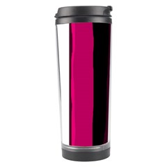 Pink and black lines Travel Tumbler