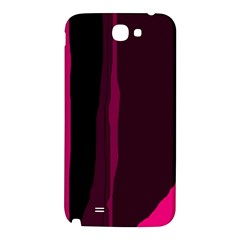 Pink and black lines Samsung Note 2 N7100 Hardshell Back Case