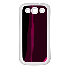 Pink and black lines Samsung Galaxy S3 Back Case (White)