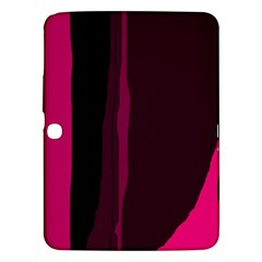 Pink and black lines Samsung Galaxy Tab 3 (10.1 ) P5200 Hardshell Case