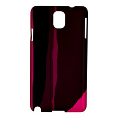 Pink and black lines Samsung Galaxy Note 3 N9005 Hardshell Case