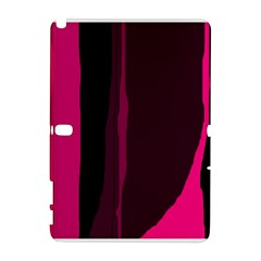 Pink and black lines Samsung Galaxy Note 10.1 (P600) Hardshell Case