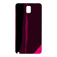 Pink and black lines Samsung Galaxy Note 3 N9005 Hardshell Back Case