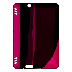 Pink and black lines Kindle Fire HDX Hardshell Case