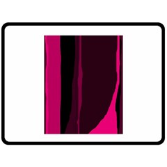 Pink and black lines Double Sided Fleece Blanket (Large)