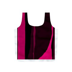 Pink and black lines Full Print Recycle Bags (S)