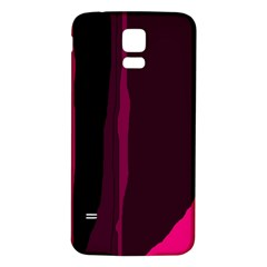 Pink and black lines Samsung Galaxy S5 Back Case (White)