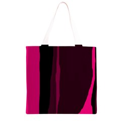 Pink and black lines Grocery Light Tote Bag