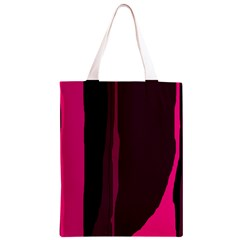 Pink and black lines Classic Light Tote Bag