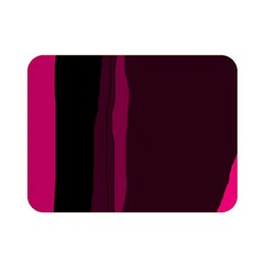 Pink and black lines Double Sided Flano Blanket (Mini)
