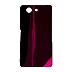 Pink and black lines Sony Xperia Z3 Compact