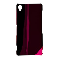 Pink and black lines Sony Xperia Z3