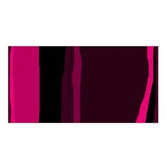 Pink and black lines Satin Shawl
