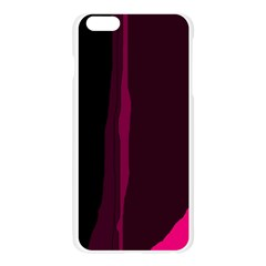 Pink and black lines Apple Seamless iPhone 6 Plus/6S Plus Case (Transparent)