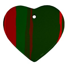 Green and red lines Ornament (Heart)