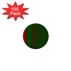Green and red lines 1  Mini Buttons (100 pack)